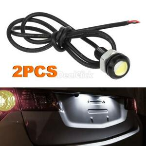 2pcs Ultra White Universal Led License Plate Light Car Motorcycle Bolt On 12v