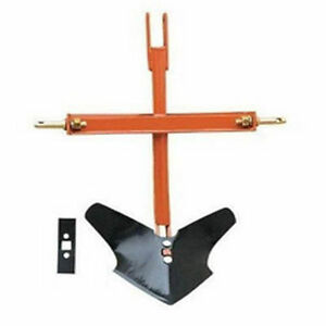 1 Tine Plow 3 Point Hitch Mounted Category I Hitch
