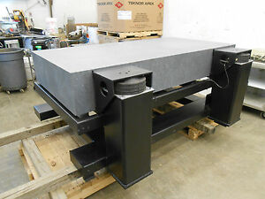 2000 X 1000 X 300mm Granite Anti vibration Table With 4 Barry Slm 24a 2400lb