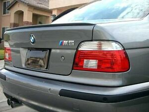 Bmw E39 5 Series Sedan Euro Rear Trunk Boot Spoiler Lip Wing Sport Trim Lid M M5