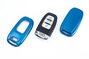 Audi Remote Flip Key Cover Case Skin Shell Cap Fob Protection Hull S Line Blue