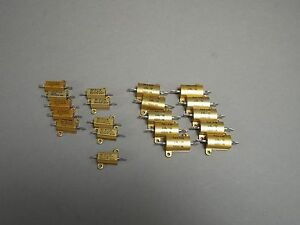 Mixed Lot Of 20 Dale Resistors 5 20 100 Ohm