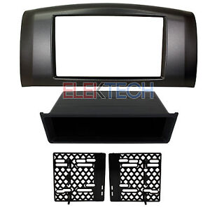 Radio Replacement Dash Install Mounting Kit Double Din W Pocket For Nissan Gray