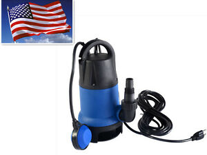 Hot 1 2 Hp 2000gph Submersible Dirty Clean Water Pump Swimming Pool