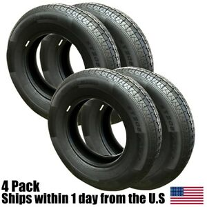 4 Wanda St205 75r15 Radial Trailer Tires 6 Ply 2057515 205 75 15 R15 C Rating