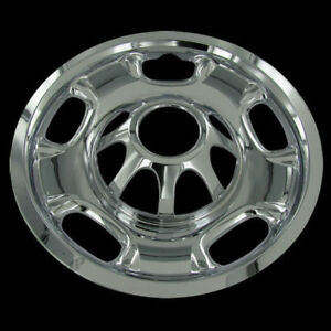 For Gmc 2500 3500 Silverado 17 Chrome 8 Lug Wheel Skins Hub Caps Covers Set