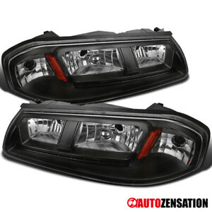 For 2000 2005 Chevy Impala Led Drl Balck Headlights Lamps Left right Pair