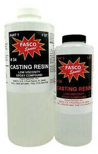 Epoxy Casting Resin Dries Crystal Clear 48 Oz Kit