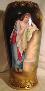 Large Royal Bonn Handpainted Portrait Vase