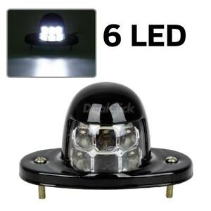 White Universal Led License Plate Tag Light For Car Van Trailer Trucks 12v 6 Smd