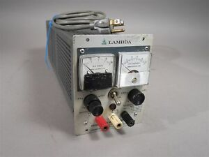 Lambda Lh 121 Fm Regulated Power Supply 0 20vdc 2 4a Used