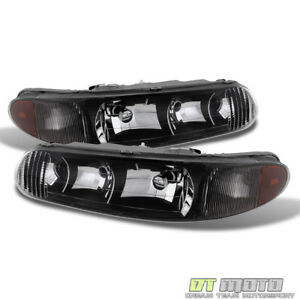 Blk 1997 2005 Buick Century 97 04 Regal Ls Gs Replacement Headlights Left Right