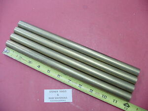 4 Pieces 3 4 C360 Brass Solid Round Rod 12 Long Lathe Bar Stock 75 Od H02