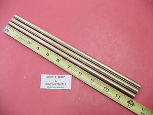 3 Pieces 3 8 C360 Brass Solid Round Rod 12 Long New Lathe Bar Stock 375