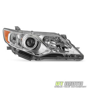 For 2012 2014 Toyota Camry L le xle Projector Headlights Right Passenger Sid