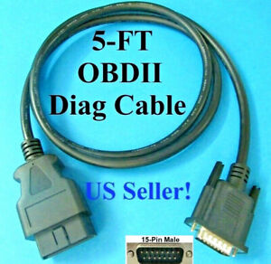 5ft Obd2 Obdii Cable Cen Tech Centech Code Scanner 60693 60694 60794 62119 62120