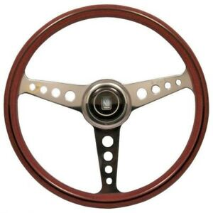 Nardi Classic Anni 60 Wood Steering Wheel Polished Spokes Round Holes 360mm