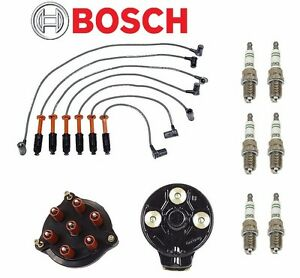 For Mercedes benz W124 300ce 1990 1992 Tune Up Kit Plugs Wires Cap Rotor Bosch