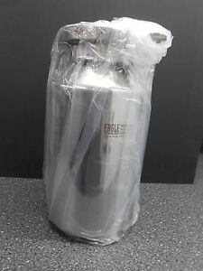 New Eagle Stainless Steel 5 Liter Bottle Btb 16 4 Tri clover Clamp With Cap