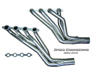 Speed Engineering Silverado Sierra 1 3 4 Longtube Headers 99 06 4 8l 5 3l 6 0l