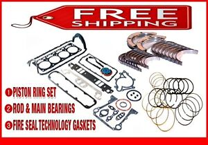 Engine Re Ring Remain Kit 00 05 Buick Chevy Pontiac 3 8l 3800 V6 Super Charged
