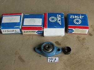 Lot Of 4 New In Box Skf 203 008 1 2 Flange Bearing