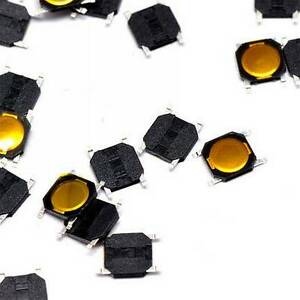 20pcs 4 4 0 8mm Tact Tactile Push Button Switch Smd 4 Waterproof Copper Head