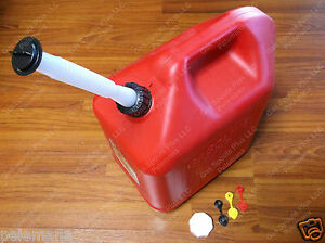 Blitz 50833 Brand New Gas Can 5 Gallon 18 9l Jug Spout Collar Stopper Cap Vents