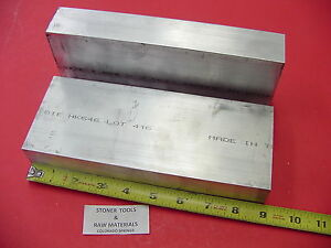 2 Pieces 1 1 2 x 3 1 2 Aluminum 6061 Flat Bar 8 85 Long Solid Plate Mill Stock