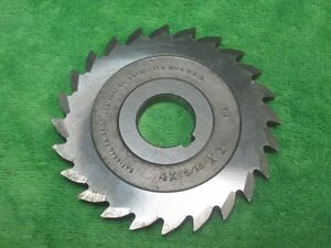 Straight Tooth Angle Milling Cutter 24t 4 X 5 16 X 1 National Twist Drill