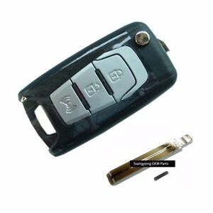 Transmitter Folding Key For Ssangyong 2013 15 Korando C Sports Oem Parts
