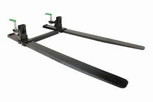 Titan 47 Forged Clamp On Pallet Forks 6 000 Lb Capacity W Stabilizer Bar