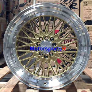 Xxr 536 Wheels 18 X 9 32 Gold Deep Lip Rims Mesh 5x114 3 06 15 Honda Civic Si