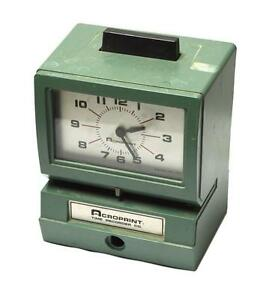 Acroprint 125nr4 Manual Time Recorder Time Clock Sold As Is