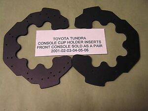 Toyota Tundra Sequoia Console Front Cup Holder Inserts Only Pair 2002 2007 Fits 2002 Toyota Tundra