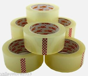 Lot 12 6 3 Packing Carton Sealing Packaging Tape 2 110 Yds 330 Ft Clear 1 8 Mil