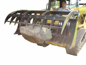 60 Grapple Rake And Global Euro To Quick Tach Skid Steer Adapter Tractor