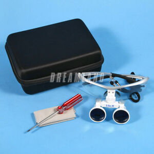 New Dental Surgical Binocular Loupes Magnifier Glasses White 3 5x r