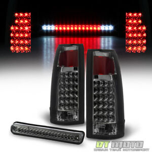 Smoked 1988 1998 Chevy gmc Silverado C k1500 Led Tail Lights led 3rd Brake Lamp