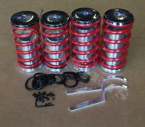 Red Lowering Adjustable Coilover Coil Spring Kit For Honda Civic 88 00 Ef Eg Ek