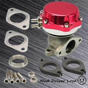 Universal 35 38mm Turbo Manifold Exhaust External Wastegate 14 Psi Spring Red