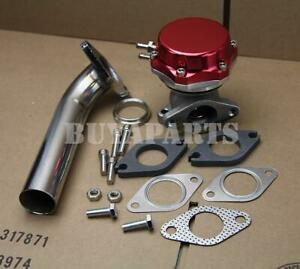 Universal Red 35mm 38mm Turbo Manifold 14 Psi External Wastegate Dump Pipe