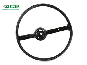 1970 1971 1972 1973 Mustang 2 Spoke Steering Wheel Black