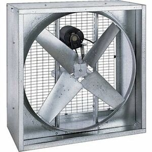 42 Agricultural Exhaust Fan Belt Driven 13 640 Cfm 115 230 Volts 1 2 Hp