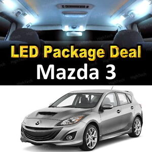 6x White Led Lights Interior Package Deal For 2004 2006 2007 2008 2009 Mazda 3