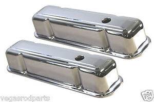 1959 79 Pontiac 301 326 350 389 400 421 428 455 V8 Tall Steel Valve Covers Chr