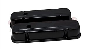 1959 79 Pontiac 301 326 350 389 400 421 428 455 V8 Tall Steel Valve Covers Black