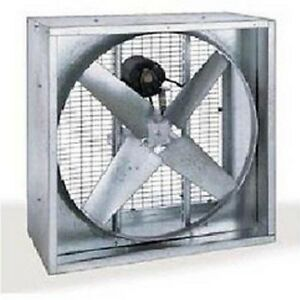 54 Agricultural Exhaust Fan 115 230 Volts 1 Phase Belt Driven 4 Blades