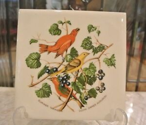 Ceramic Art Tile With Birds Wall Decor Trivet