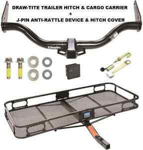 Trailer Hitch Cargo Basket Carrier Silent Pin Lock Fits 2005 15 Nissan Xterra